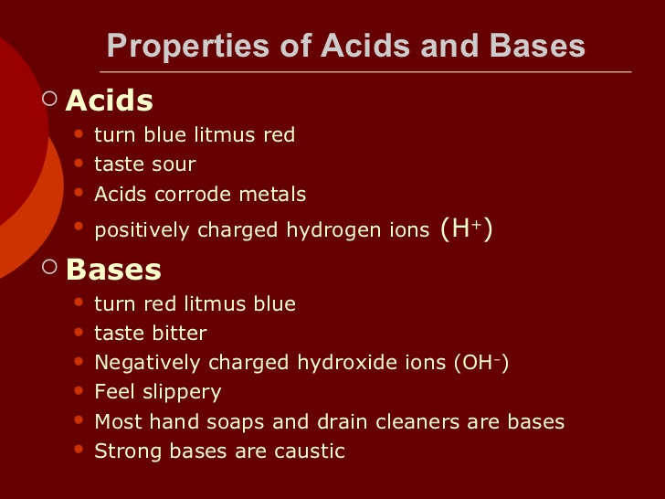 Chemical Properties Of Bases Class